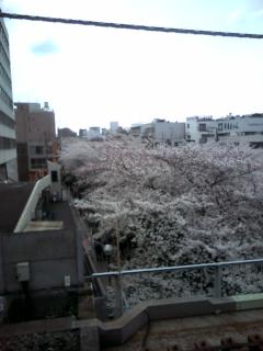 中目黒駅ホームから