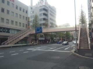 区役所前歩道橋の消失